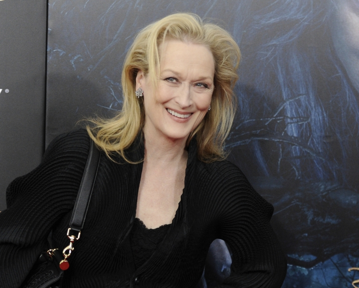"FILE - This Dec. 8, 2014 file photo shows Meryl Streep at the premiere of ""Into The Woods"" in New York. Streep will be the first recipient of an acting award bestowed as part of the Toronto International Film Festival. The festival's organizers announced Friday, July 26, 2019, that Streep will receive the inaugural TIFF Tribute Actor Award during a Feb. 9 charity gala. (Photo by Evan Agostini/Invision/AP, File)"
