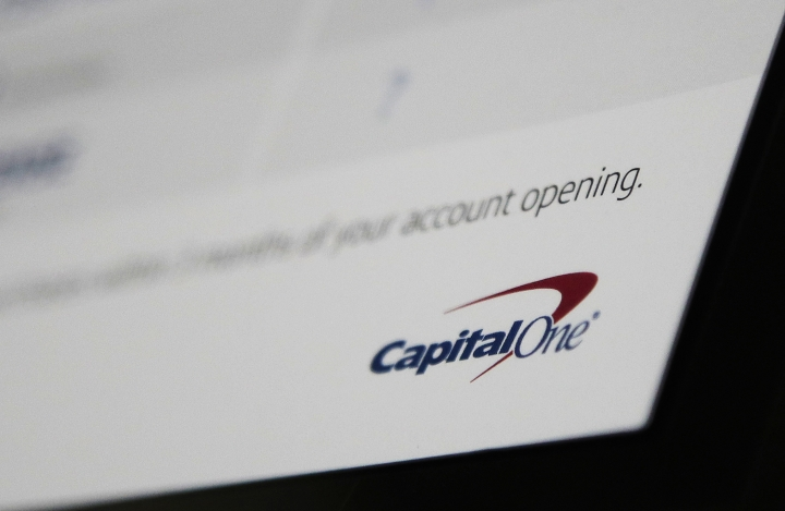 This Monday, July 22, 2019, photo shows Capital One mailing in North Andover, Mass. Capital One says a hacker got access to the personal information of over 100 million individuals applying for credit. The McLean, Virginia-based bank said Monday, July 29, 2019, it found out about the vulnerability in its system July 19 and immediately sought help from law enforcement to catch the perpetrator. (AP Photo/Elise Amendola)