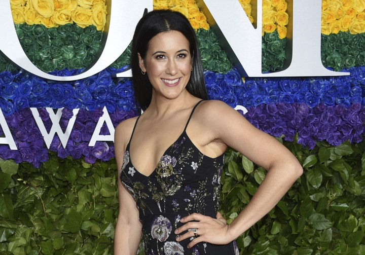 FILE - In this June 9, 2019 file photo, Vanessa Carlton arrives at the 73rd annual Tony Awards at Radio City Music Hall in New York. Over the years, the Broadway show about singer-songwriter Carole King has starred powerful singers in the title role. But until now it hasn't had one thing _ a singer-songwriter. Carlton has bravely stepped into the role of the legendary King without much musical theater experience but lots about being a young woman song writer trying to discover her own voice.(Photo by Evan Agostini/Invision/AP, File)