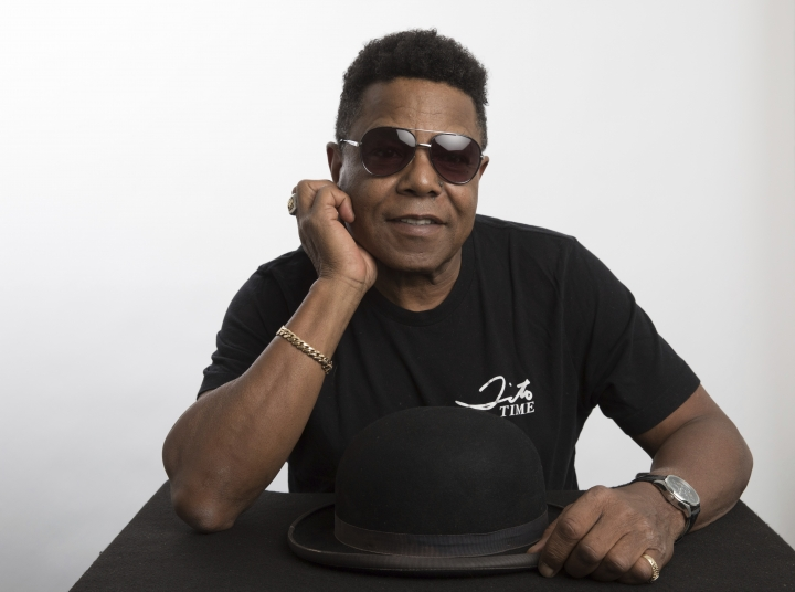 "This July 24, 2019 photo shows Tito Jackson, a member of the famed Jackson 5, posing for a portrait in Los Angeles to promote his solo project, a new version of his 2017 song ""One Way Street."" (Photo by Mark Von Holden/Invision/AP)"