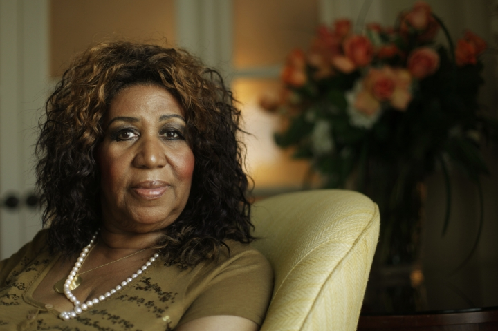 FILE - This July 26, 2010 file photo shows performer Aretha Franklin in Philadelphia. As the anniversary of her death approaches, two of her doctors tell The Associated Press that the Queen of Soul handled the diagnosis and treatment with grace and the grit to keep performing for years with a rare type of cancer. Franklin, who died in Detroit on Aug. 16, 2018, at 76, had pancreatic neuroendocrine cancer. (AP Photo/Matt Rourke, File)