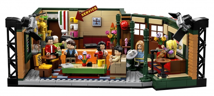 """The photo provided by LEGO shows the LEGO Ideas """"Friends"""" brick set pictured marks the 25th anniversary of the iconic sitcom. Warner Bros. has partnered with LEGO and a range of other brands to provide fans with merchandise from jewelry to Rachel's famous apothecary table. (LEGO via AP)"""