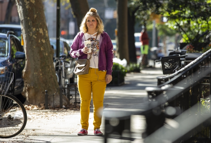 "This image released by Amazon Studios shows Jillian Bell, who plays Brittany in the film ""Brittany Runs a Marathon,"" directed by Paul Downs Colaizzo. (Amazon Studios via AP)"
