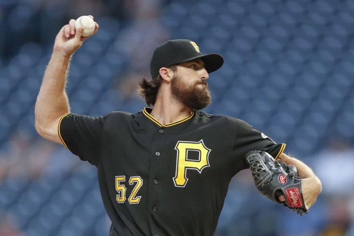 Pittsburgh Pirates relief pitcher Clay Holmes throws against the Washington Nationals in the second inning of a baseball game, Tuesday, Aug. 20, 2019, in Pittsburgh. Holmes came in to replace starter Chris Archer who left the field with a trainer before the start off the inning.(AP Photo/Keith Srakocic)