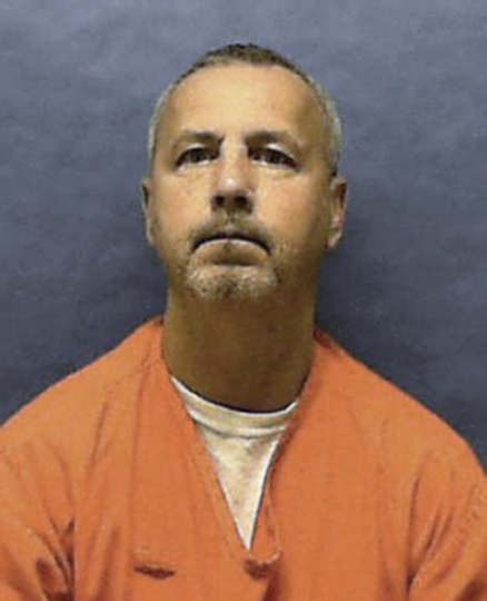 In this undated photo provided by the Florida Department of Corrections, Gary Ray Bowles is shown. Bowles is scheduled to be executed by lethal injection at Florida State Prison on Thursday, Aug. 22, 2019, for the murder of Walter Hinton in Jacksonville Beach in November 1994. (Florida Department of Corrections via AP)