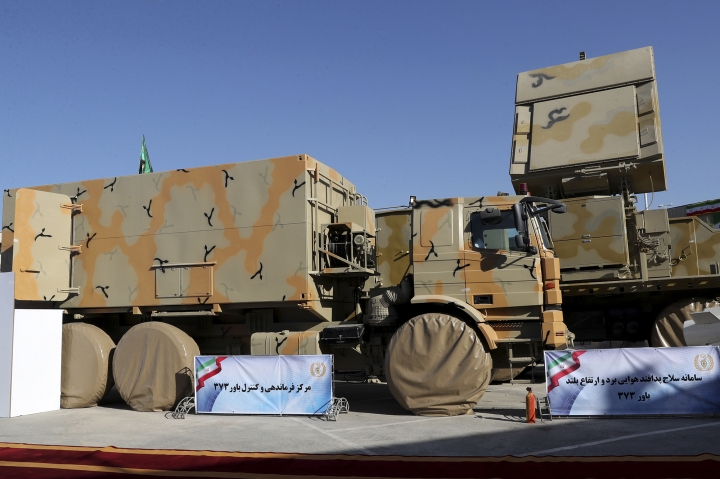 In this photo released by the official website of the office of the Iranian Presidency, a part of Iran-made Bavar-373 air-defense missile system is seen in a ceremony to unveil by President Hassan Rouhani, Iran, Thursday, Aug. 22, 2019. Iran says the Bavar-373 is a long-range surface-to-air missile system able to recognize up to 100 targets at a same time and confront them with six different weapons. (Iranian Presidency Office via AP)