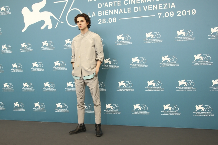 Actor Timothee Chalamet poses for photographers at the photo call for the film 'The King' at the 76th edition of the Venice Film Festival in Venice, Italy, Monday, Sept. 2, 2019. (Photo by Joel C Ryan/Invision/AP)