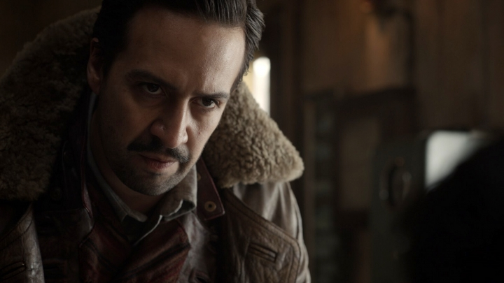 """This image released by HBO shows Lin-Manuel Miranda in a scene from """"His Dark Materials."""" (HBO via AP)"""