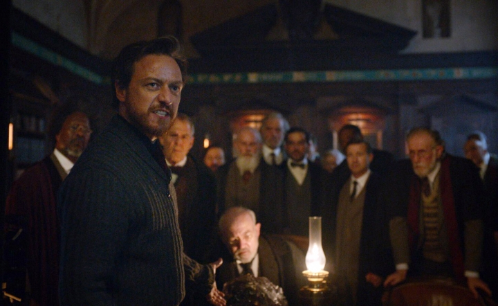 """This image released by HBO shows James McAvoy in a scene from """"His Dark Materials."""" (HBO via AP)"""