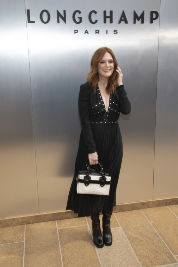 Actress Julianne Moore attends the Longchamp runway show at Lincoln Center during NYFW Spring/Summer 2020 on Saturday, Sept. 7, 2019, in New York. (Photo by Brent N. Clarke/Invision/AP