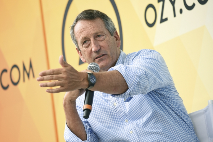 "FILE - In this July 21, 2018, file photo, Republican politician Mark Sanford speaks at OZY Fest in Central Park in New York. Sanford, the former South Carolina governor and congressman, has decided to launch a longshot Republican challenge to President Donald Trump. ""I am here to tell you now that I am going to get in,'' Sanford said in an interview on ""Fox News Sunday,'' Sunday, Sept. 8, 2019. (Photo by Evan Agostini/Invision/AP, File)"