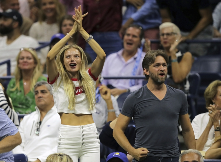 Spectators cheer during the men's singles final between Rafael Nadal, of Spain, and Daniil Medvedev, of Russia, at the U.S. Open tennis championships Sunday, Sept. 8, 2019, in New York. (AP Photo/Charles Krupa)