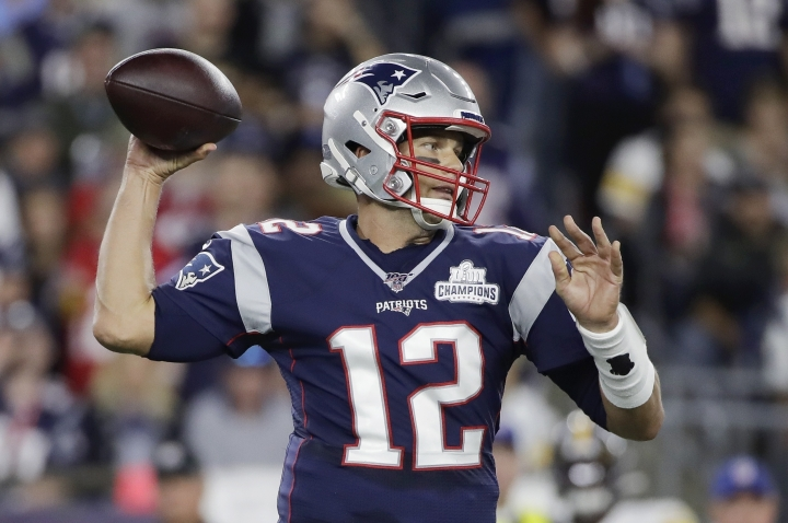 New England Patriots quarterback Tom Brady passes against the Pittsburgh Steelers in the first half an NFL football game, Sunday, Sept. 8, 2019, in Foxborough, Mass. (AP Photo/Elise Amendola)