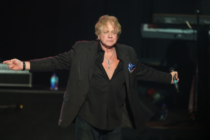 In this Nov 16, 2017 photo, Eddie Money performs at the Hard Rock Hotel and Casino's the Joint in Catoosa, Okla. Family members have said Eddie Money has died on Friday, Sept. 13, 2019. (Tom Gilbert/Tulsa World via AP)