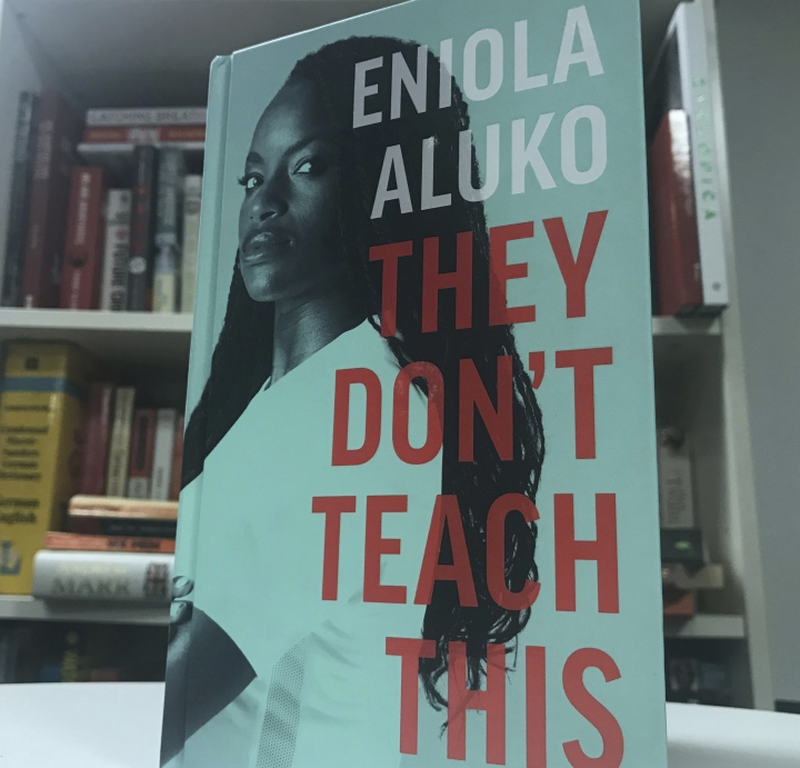 "The front cover of the autobiography written by English soccer player Eniola Aluko , London, England. Friday, Sept. 13, 2019. Soccer star Eni Aluko is condemning Amazon for not removing racist reviews of her memoir posted on the online retailer's web site. Of the 31 reviews on Amazon, 27 gave ""They Don't Teach This,"" which details the discrimination Aluko faced during her England career, a one-star rating. Readers have used the platform to call the book ""fiction,"" ""anti-white racist drivel"" and accuse the Juventus forward of choosing to ""play the race card"" and ""coming across as a racist herself."" (Rob Harris/AP)"
