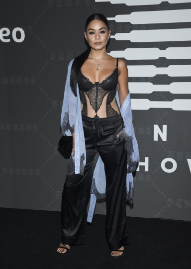 Actress Vanessa Hudgens attends the Spring/Summer 2020 Savage X Fenty show, presented by Amazon Prime, at the Barclays Center on Tuesday, Sept, 10, 2019, in New York. (Photo by Evan Agostini/Invision/AP)