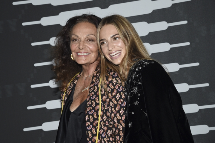 Designer Diane von Furstenberg, left, and Talita von Furstenberg attend the Spring/Summer 2020 Savage X Fenty show, presented by Amazon Prime, at the Barclays Center on Tuesday, Sept, 10, 2019, in New York. (Photo by Evan Agostini/Invision/AP)
