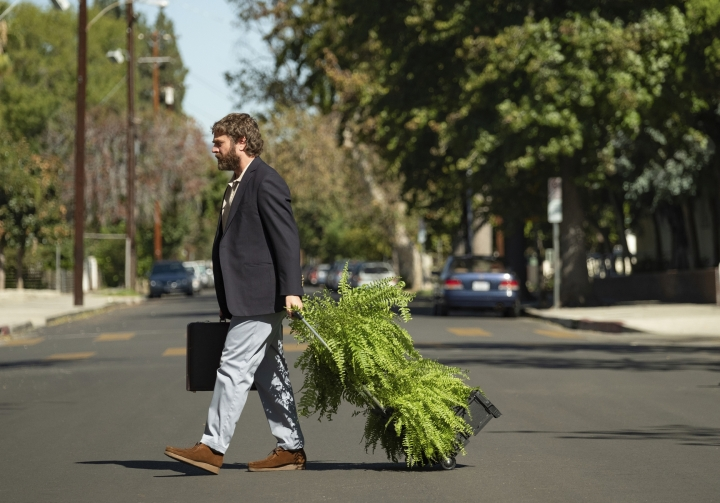 "This image released by Netflix shows Zach Galifianakis in ""Between Two Ferns: The Movie."" (Adam Rose/Netflix via AP)"