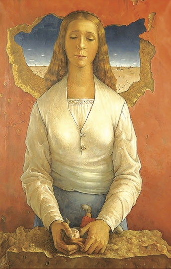 "This image released by the Inter-American Development Bank shows ""La Muneca Rota"" by Venezuelan painter Hector Poleo, taken from an advertisement for an exhibit on Latin American art. U.S. officials are investigating the possible looting from Venezuela of valuable European and Latin American artwork, including this one, they believe is being quietly plundered by government insiders as Nicolas Maduro struggles to keep his grip on power. Among the objects being traced: three Venezuelan masterpieces that hung for decades on the walls of the ambassador's stately residence in Washington but which were nowhere to be found when opposition leader Juan Guaido's envoy took over the diplomatic mission in May. (Inter-American Development Bank via AP)"