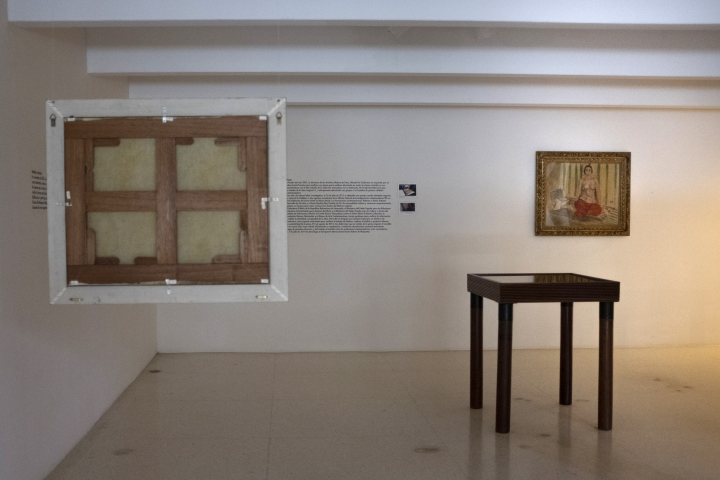 In this Sept. 17, 2019, photo, Henri Matisse's Odalisque in Red Pants hangs on a wall in front of a copy of the same painting in the Museum of Contemporary Art of Caracas, Venezuela. Even in better times Venezuela was ripe for some high-stakes museum heists: sometime after Hugo Chavez took power in 1999, this paining went missing from the museum and replaced by a badly-produced fake. The original was discovered a decade later in a Miami hotel room and returned by the FBI with great fanfare to Venezuela's government in 2014. (AP Photo/Andrea Hernandez Briceño)
