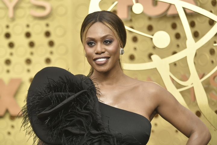 Laverne Cox arrives at the 71st Primetime Emmy Awards on Sunday, Sept. 22, 2019, at the Microsoft Theater in Los Angeles. (Photo by Richard Shotwell/Invision/AP)