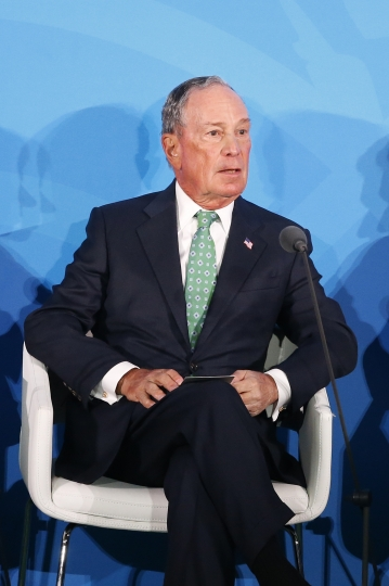 Special Envoy for Climate Action Michael Bloomberg addresses the Climate Action Summit in the United Nations General Assembly, at U.N. headquarters, Monday, Sept. 23, 2019. (AP Photo/Jason DeCrow)