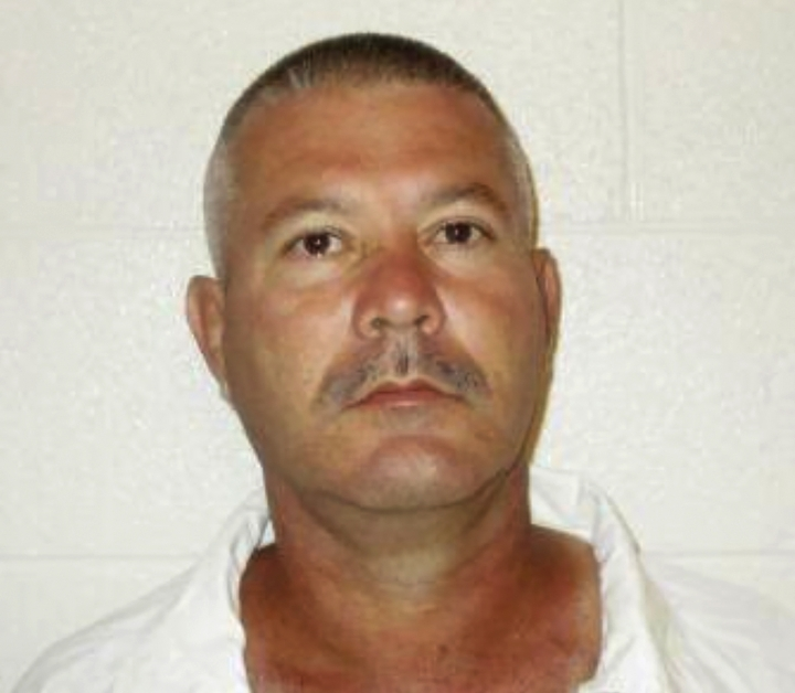 This undated photo provided by the Arkansas Department of Corrections shows Calvin Adams. Arkansas prison officials say the convicted murderer who escaped from prison in 2009 while wearing a guard uniform has escaped again. The Arkansas Department of Corrections said Monday, Sept. 30, 2019, that Adams was confirmed missing after a search of the East Arkansas Regional Unit in the community of Brickeys. (Arkansas Department of Corrections via AP)