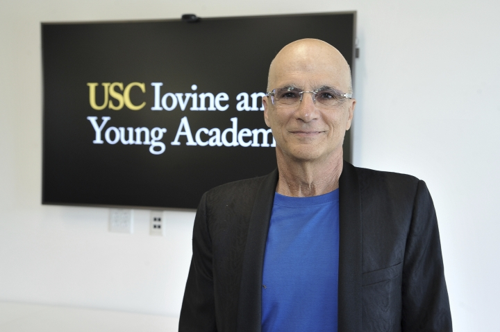 "Jimmy Iovine appears at the unveiling of a high-tech building named after him and business partner Andre ""Dr. Dre"" Young on the University of Southern California campus in Los Angeles on Wednesday, Oct. 2, 2019. The duo donated a combined $70 million in 2013 to create an art, technology and business academy at the college. (Photo by Richard Shotwell/Invision/AP)"