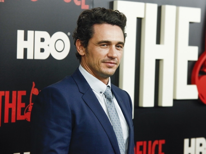 "FILE - This Sept. 7, 2017 file photo shows James Franco at the premiere of the HBO Original Series ""The Deuce"" in New York. Two actresses have sued Franco and his former acting and film school, saying they were pushed into gratuitous and exploitative sexual situations as his students. (Photo by Andy Kropa/Invision/AP, File)"