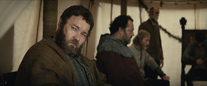 "This image released by Netflix shows Joel Edgerton in a scene from ""The King."" (Netflix via AP)"