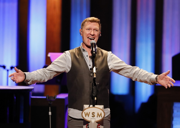 "FILE - This July 16, 2019 file photo shows Craig Morgan performing at ""Luke Combs Joins the Grand Ole Opry Family"" at Grand Ole Opry in Nashville, Tenn. Three years after country singer Craig Morgan lost his 19-year-old son in a drowning accident, he wrote a song about his grief, pain and his faith, called ""The Father, My Son, and the Holy Ghost."" He performed it on the Grand Ole Opry and sent a recorded version to his friend and fellow Opry member Blake Shelton. Shelton started an impromptu social media campaign to promote the song, which caused a widespread response of fans reaching out to Morgan. (Photo by Al Wagner/Invision/AP, File)"