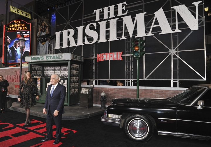 "Director Martin Scorsese arrives at the Los Angeles premiere of ""The Irishman"" on Thursday, Oct. 24, 2019, at the TCL Chinese Theatre. (Photo by Richard Shotwell/Invision/AP)"