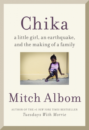 "This cover image released by Harper shows ""Finding Chika: A Little Girl, an Earthquake, and the Making of a Family,"" by Mitch Albom. (Harper via AP)"