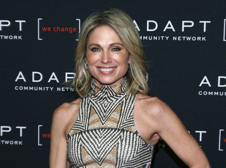 FILE - This March 14, 2019 file photo shows ABC News' Amy Robach at the 2019 ADAPT Leadership Awards in New York. ABC News is defending itself against charges that it was afraid to air an interview with a Jeffrey Epstein accuser after video emerged Tuesday showing Robach venting about her story. ABC says that Robach's 2015 interview with accuser Virginia Roberts didn't have enough corroborating evidence. (Photo by Andy Kropa/Invision/AP, File)
