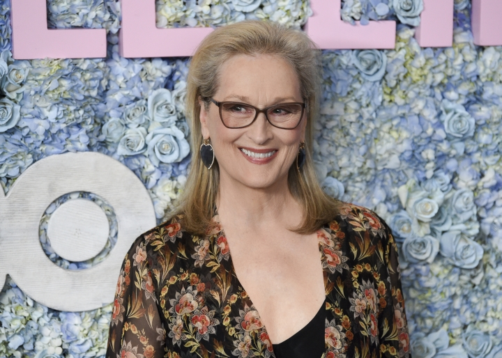 "FILE - This May 29, 2019 file photo shows actress Meryl Streep at the premiere of HBO's ""Big Little Lies"" season two in New York. Streep has been named as a co-chair of the Metropolitan Museum of Art's Costume Institute. (Photo by Evan Agostini/Invision/AP, File)"