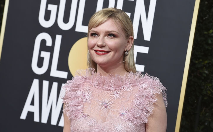 Kirsten Dunst arrives at the 77th annual Golden Globe Awards at the Beverly Hilton Hotel on Sunday, Jan. 5, 2020, in Beverly Hills, Calif. (Photo by Jordan Strauss/Invision/AP)