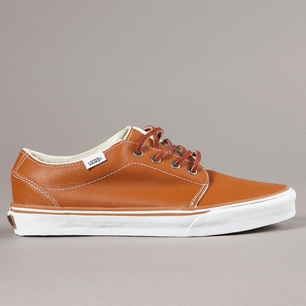 brown leather vans