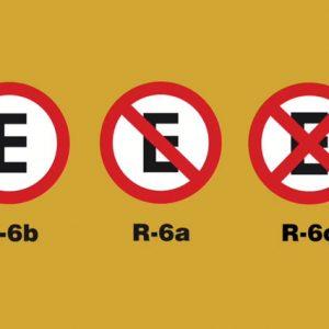 Parada e estacionamento: as placas da família R-6 não podem deixar dúvidas