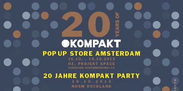 Kompakt to open pop-up record store in Amsterdam for ADE this month