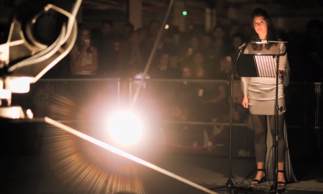 Watch Mira Calix's track performed live with a robot for The Ada Project