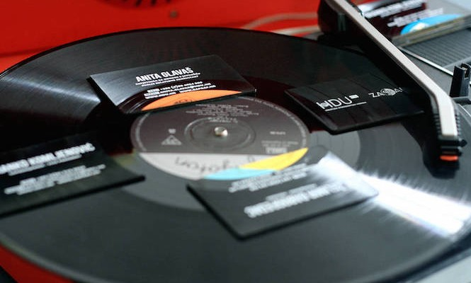 Check out these playable vinyl business cards