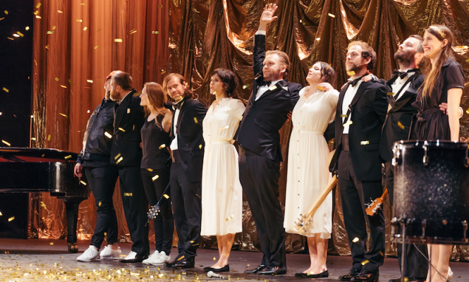 Ragnar Kjartansson and the Bel-Air Glamour Records gang star at the Barbican