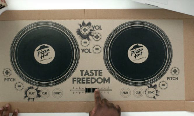 Pizza Hut unveils the world's first playable pizza box DJ decks
