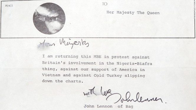 John Lennon's letter to the Queen discovered inside a record sleeve