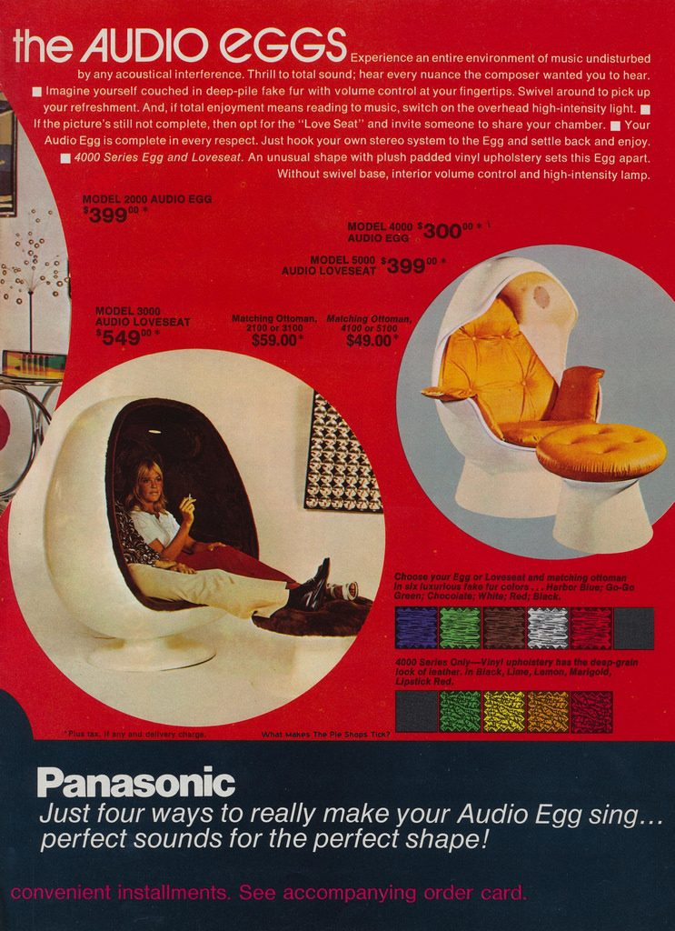 The 15 most incredible space age record players for 70s egg chair