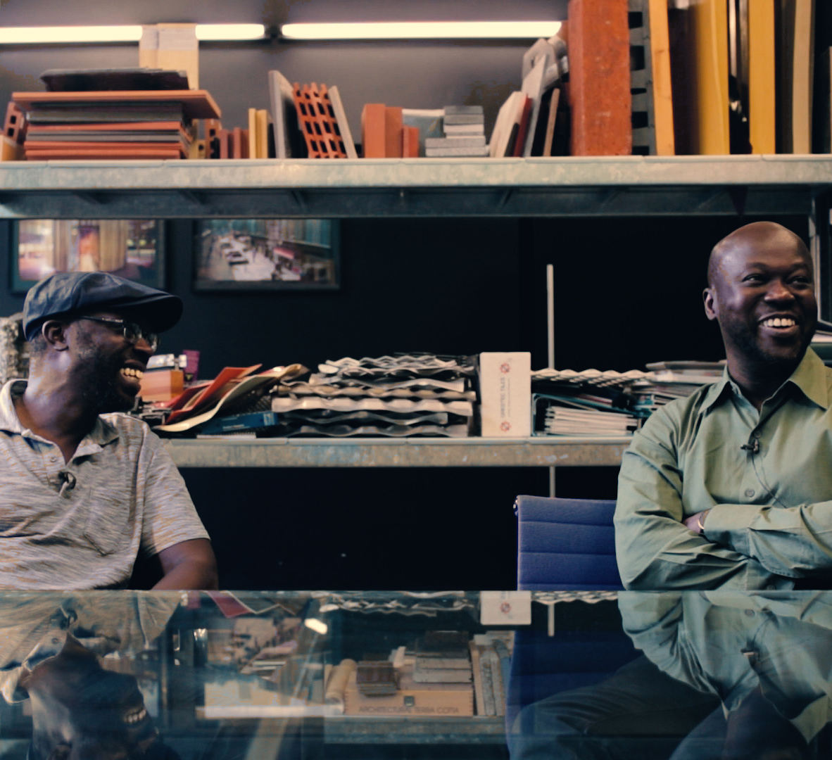 David and Peter Adjaye Portait
