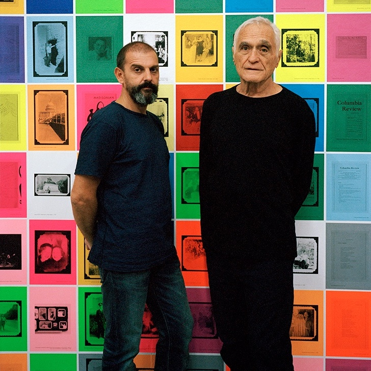 Ugo Rondione and John Giorno Portait