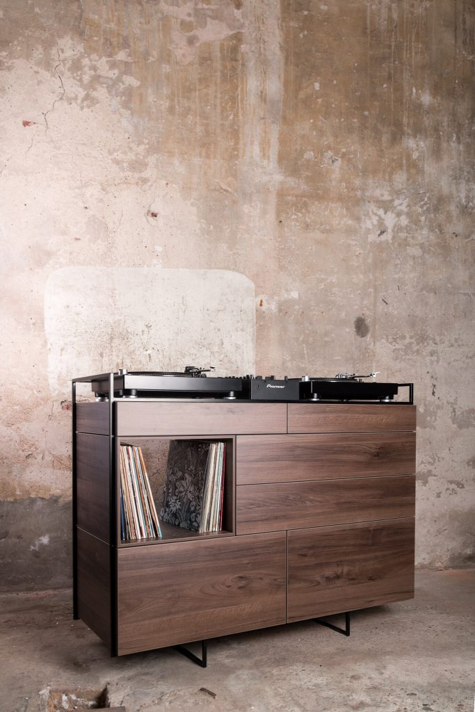 This Walnut Dj Console Is The Perfect Living Room Addition