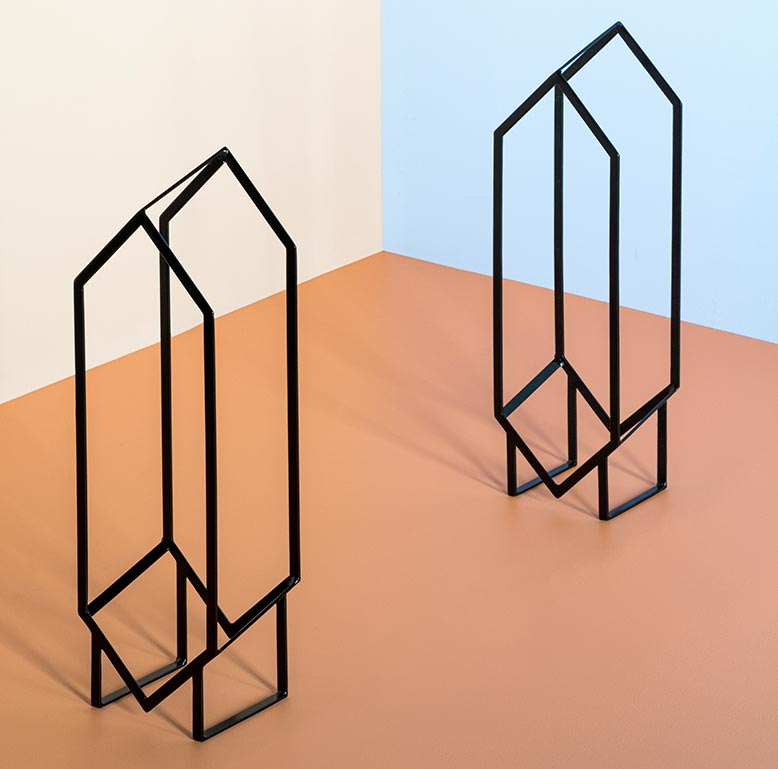 Check Out This Sleek New Geometric Record Stand