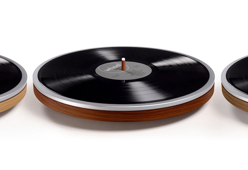 """This minimal new record player is """"just a wheel"""""""